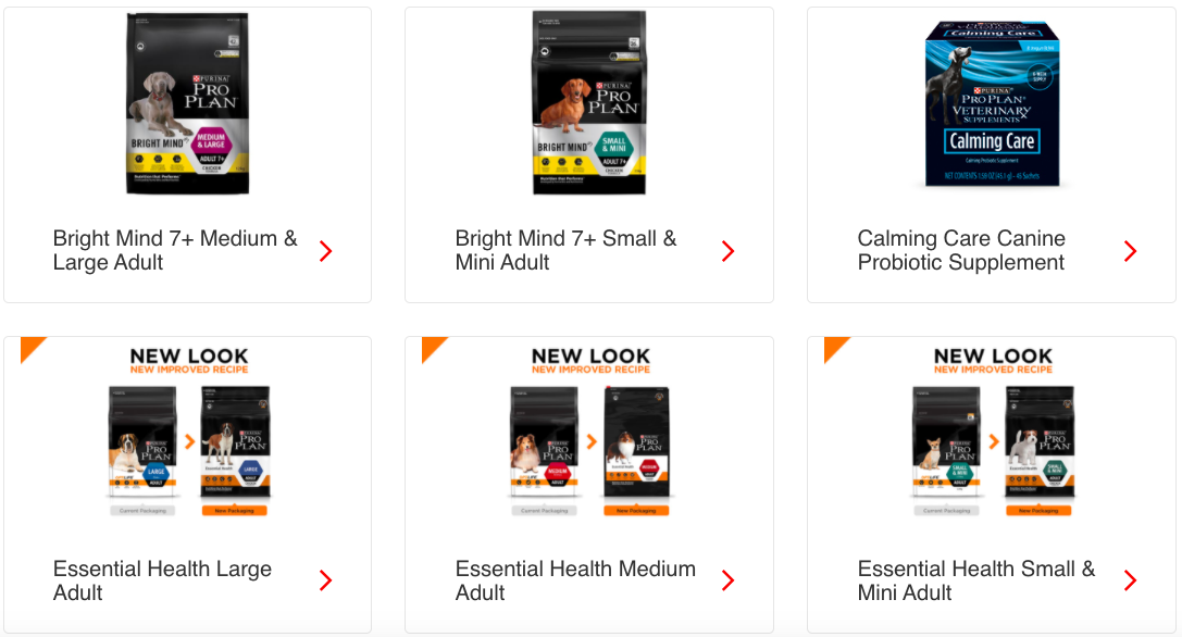 Purina pro plan products
